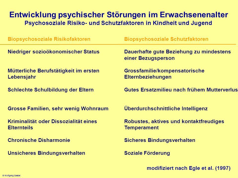 Entwicklung psychischer Störungen im Erwachsenenalter