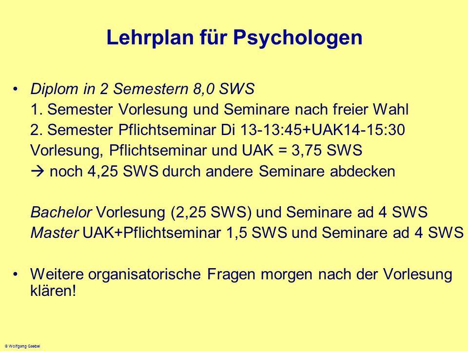 Lehrplan für Psychologen
