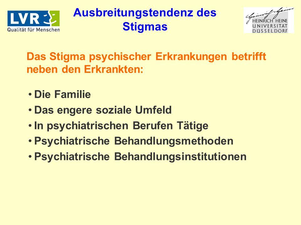 Ausbreitungstendenz des Stigmas