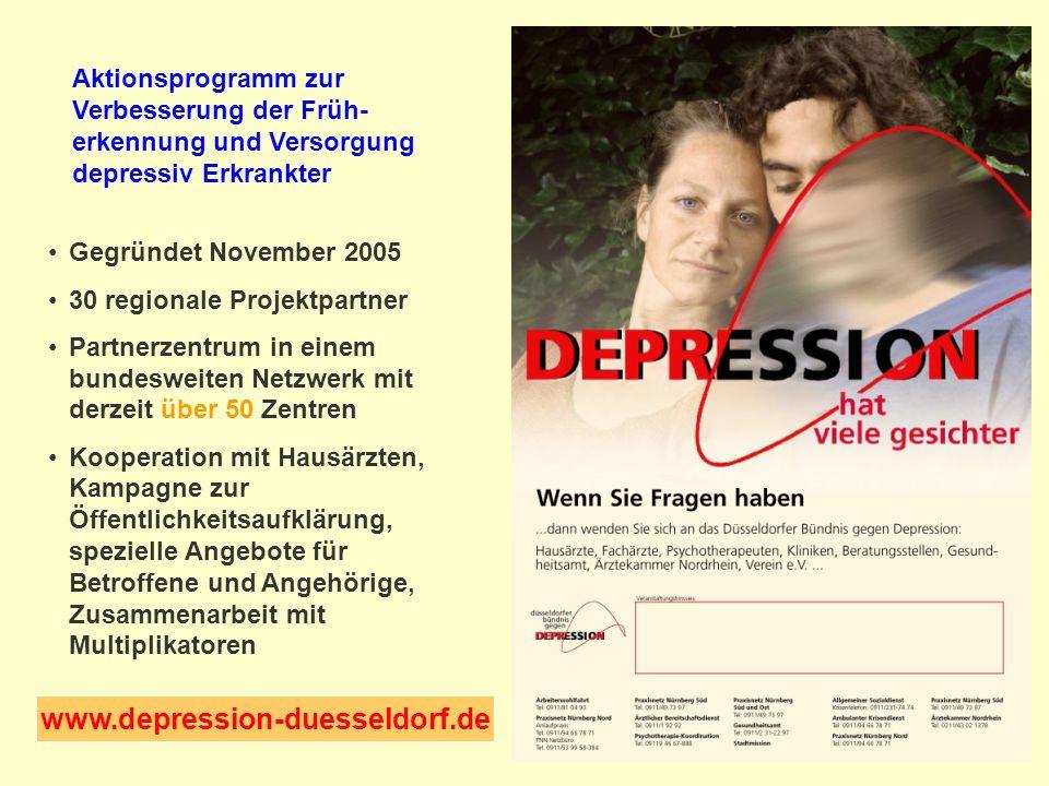 Aktionsprogramm zur Verbesserung der Früh-erkennung und Versorgung depressiv Erkrankter