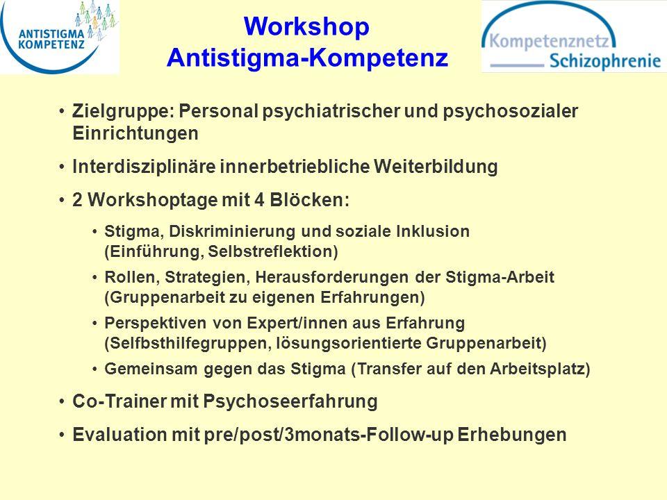 Workshop Antistigma-Kompetenz