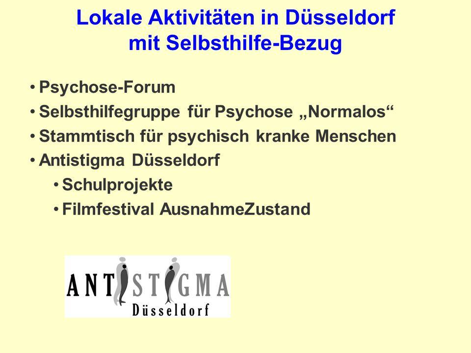 Lokale Aktivitäten in Düsseldorf mit Selbsthilfe-Bezug