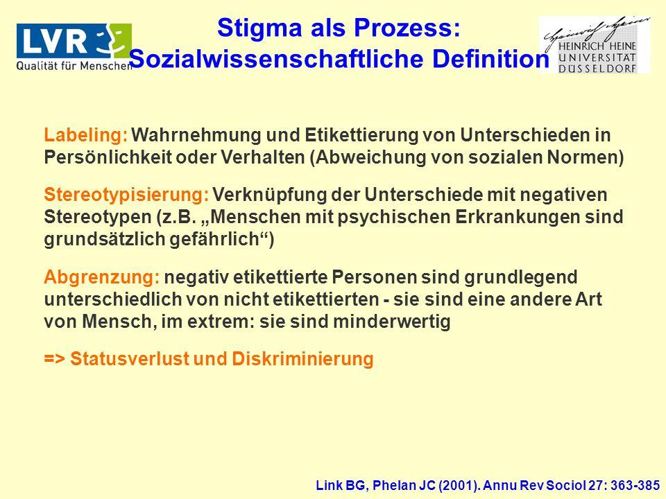 Stigma als Prozess: Sozialwissenschaftliche Definition