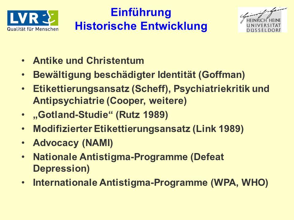 Einführung Historische Entwicklung
