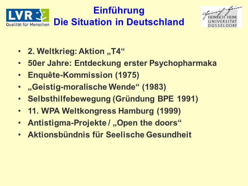 Einführung Die Situation in Deutschland