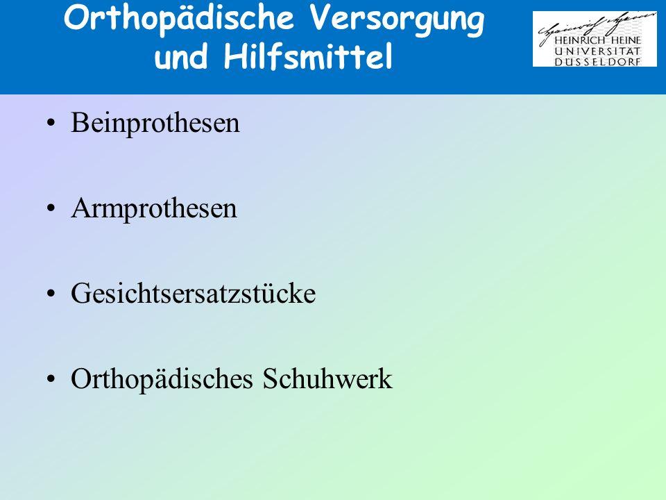 Orthopädische Versorgung und Hilfsmittel