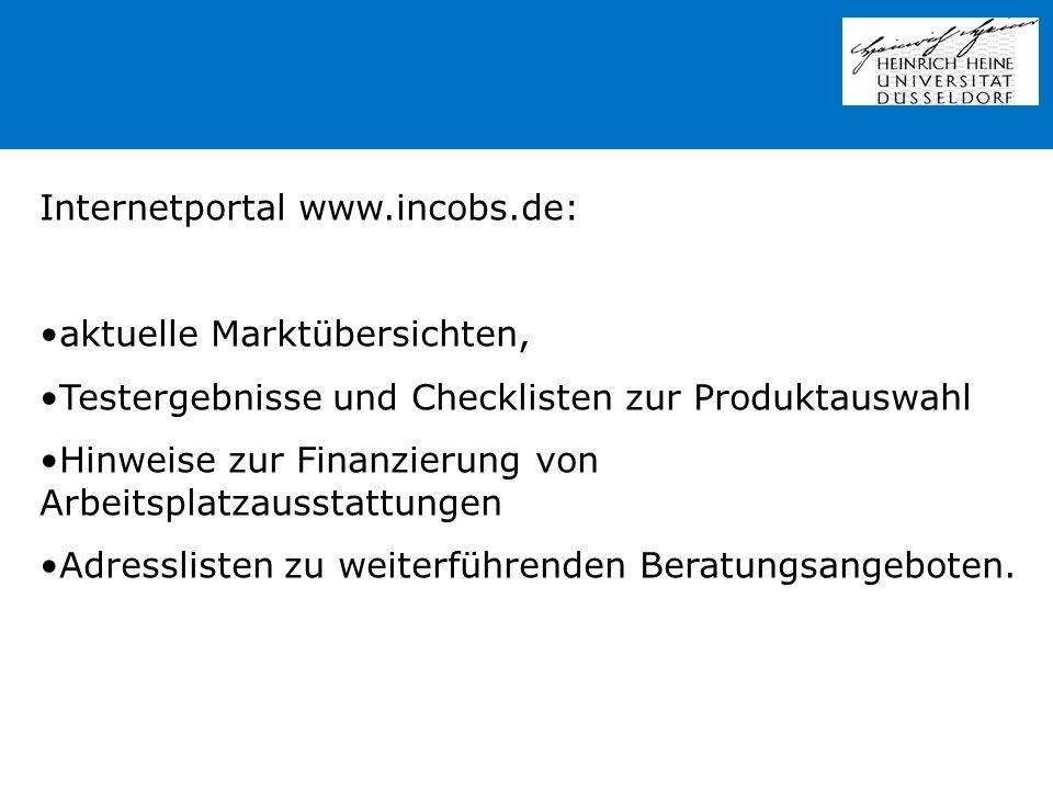 Internetportal www.incobs.de: