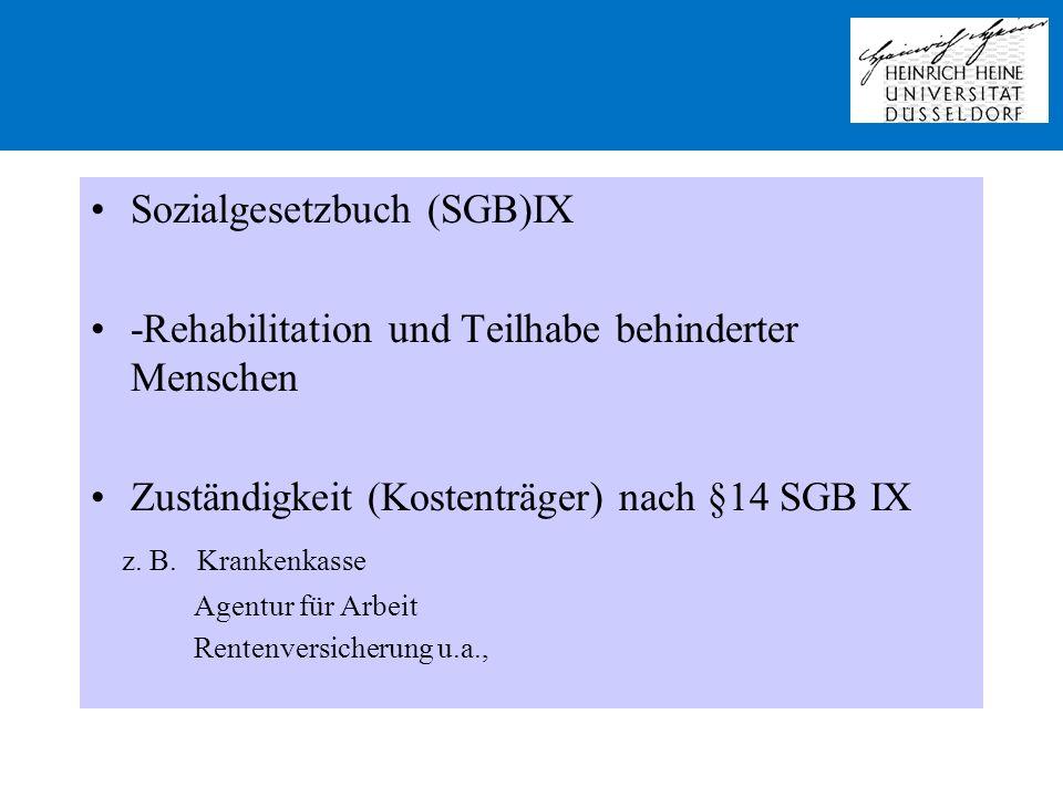 Sozialgesetzbuch (SGB)IX