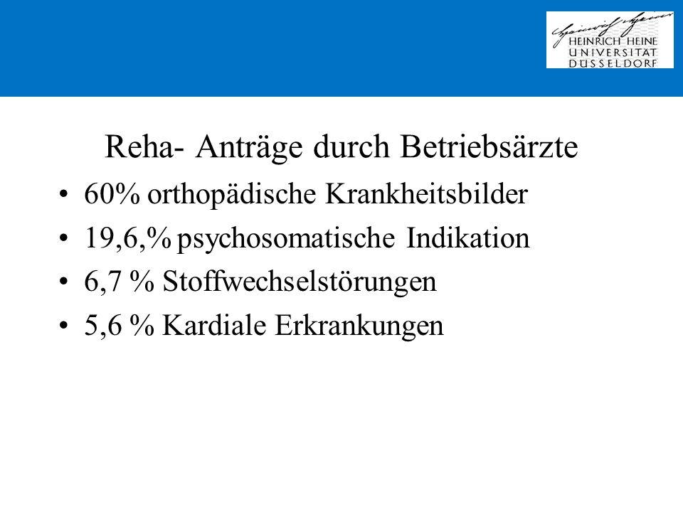 Reha- Anträge durch Betriebsärzte
