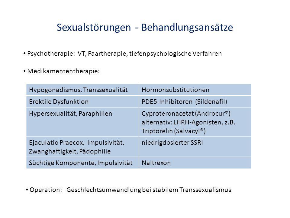 Sexualstörungen - Behandlungsansätze