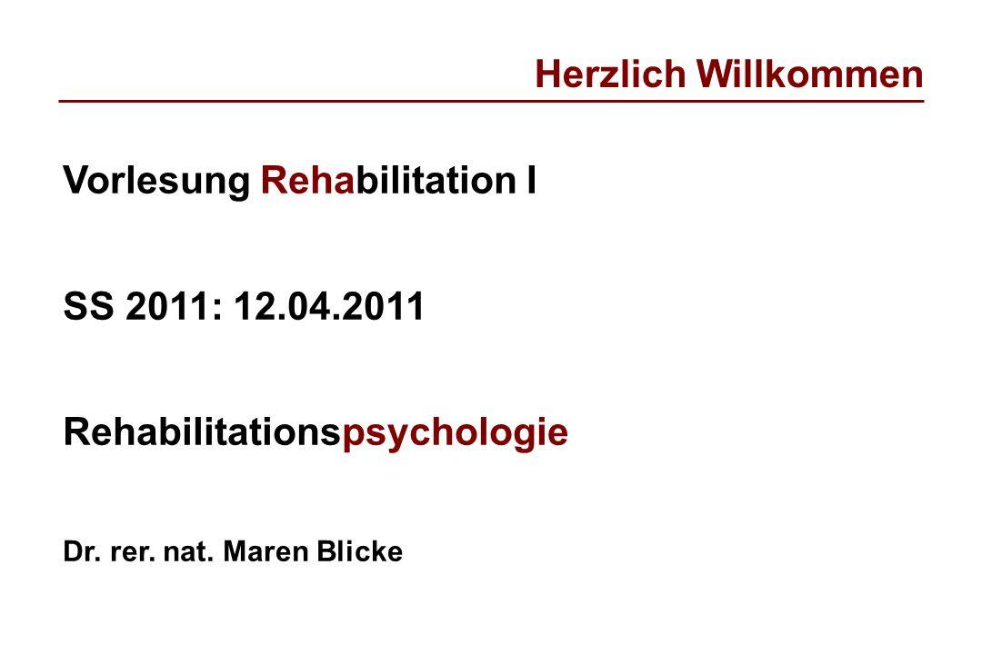 Vorlesung Rehabilitation I