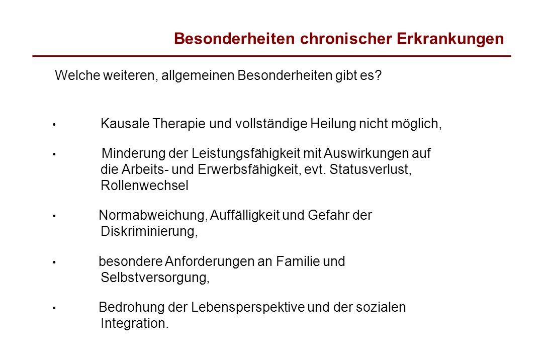 Besonderheiten chronischer Erkrankungen