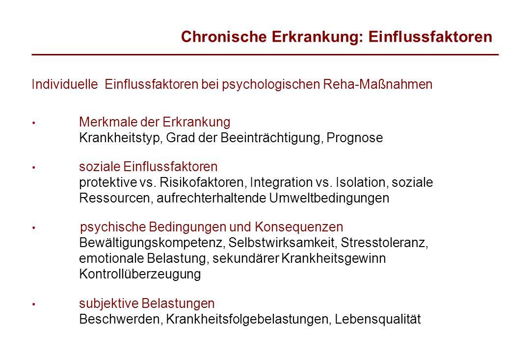 Chronische Erkrankung: Einflussfaktoren