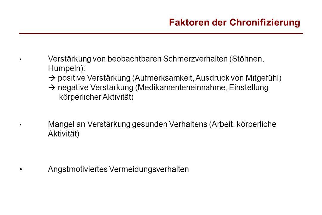 Faktoren der Chronifizierung