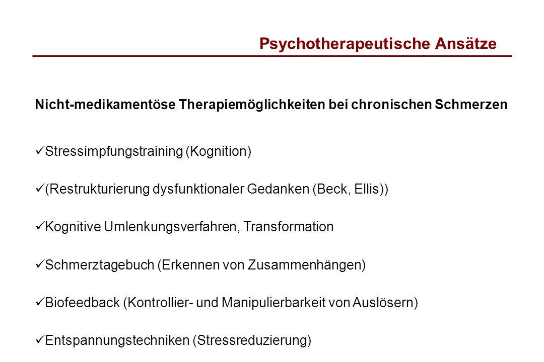 Psychotherapeutische Ansätze
