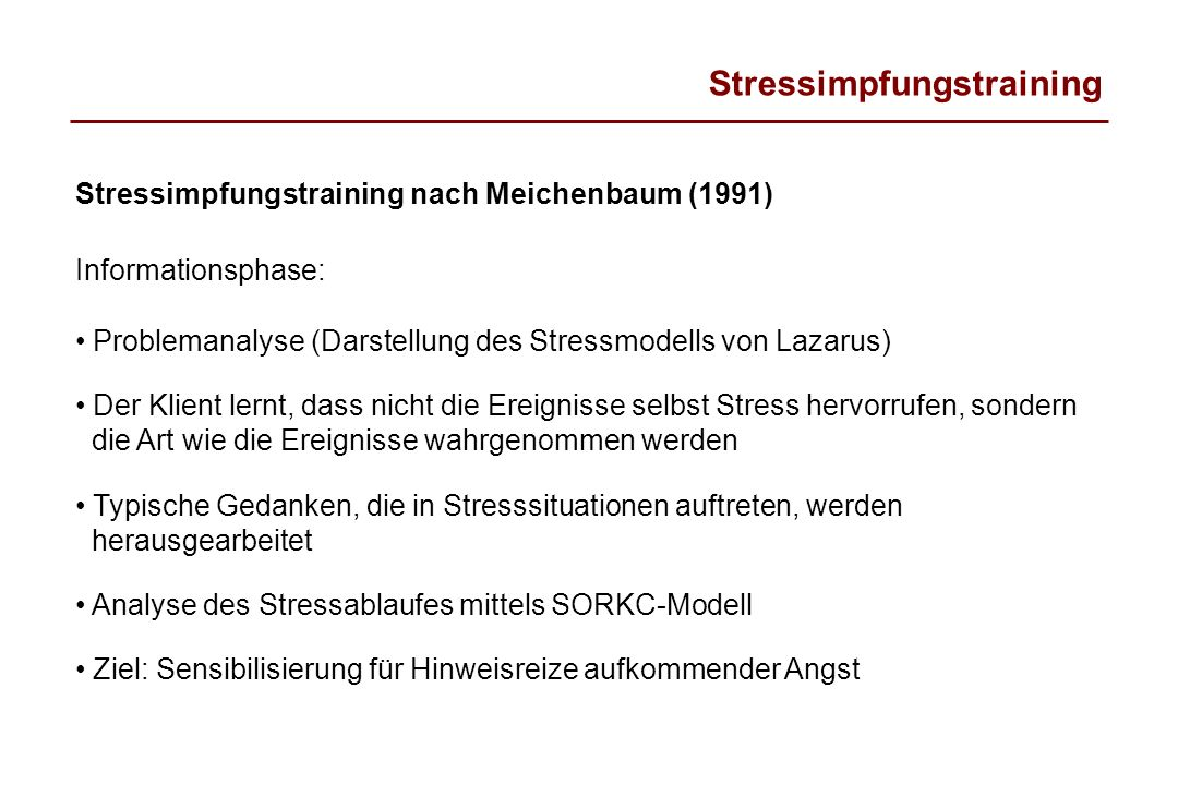 Stressimpfungstraining