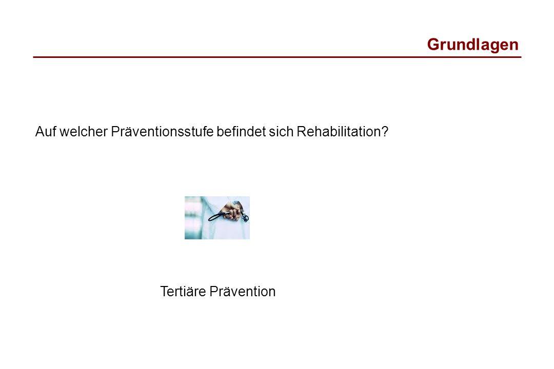 Grundlagen Auf welcher Präventionsstufe befindet sich Rehabilitation