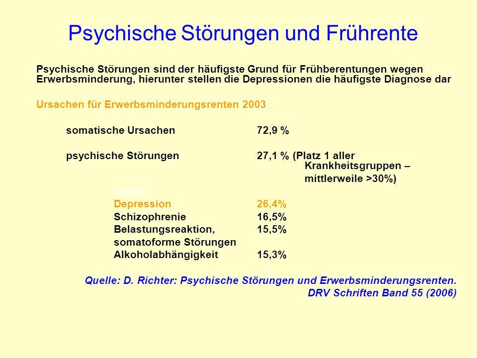 Psychische Störungen und Frührente