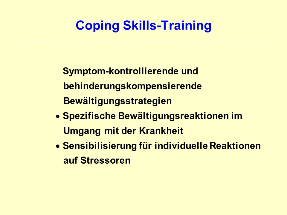 Coping Skills-Training