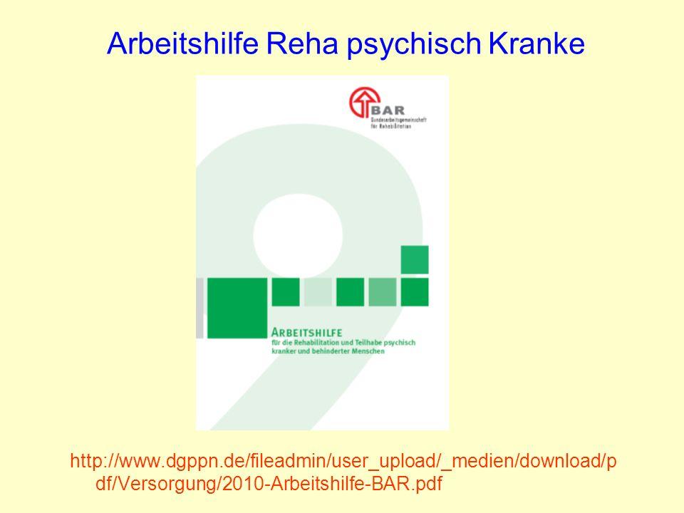 Arbeitshilfe Reha psychisch Kranke