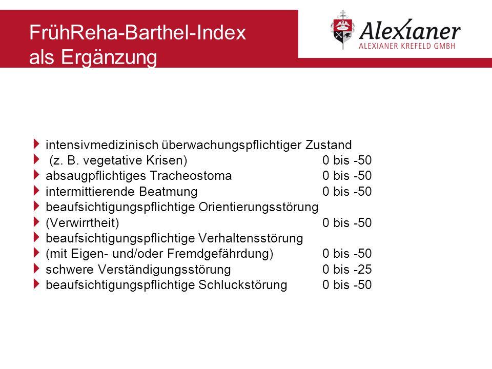 FrühReha-Barthel-Index als Ergänzung