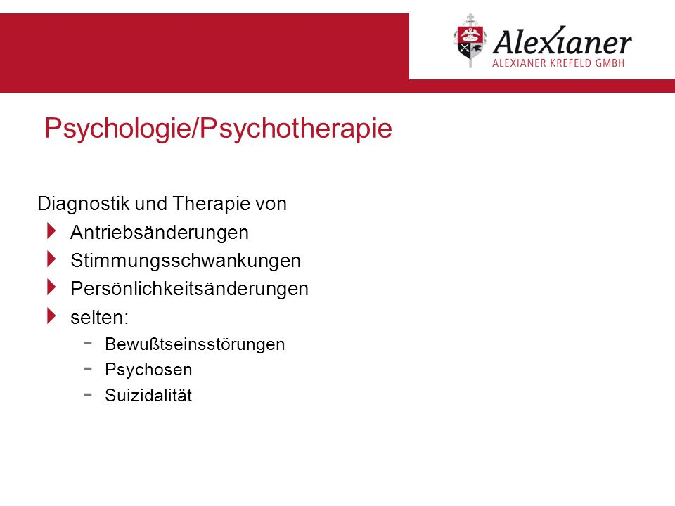 Psychologie/Psychotherapie