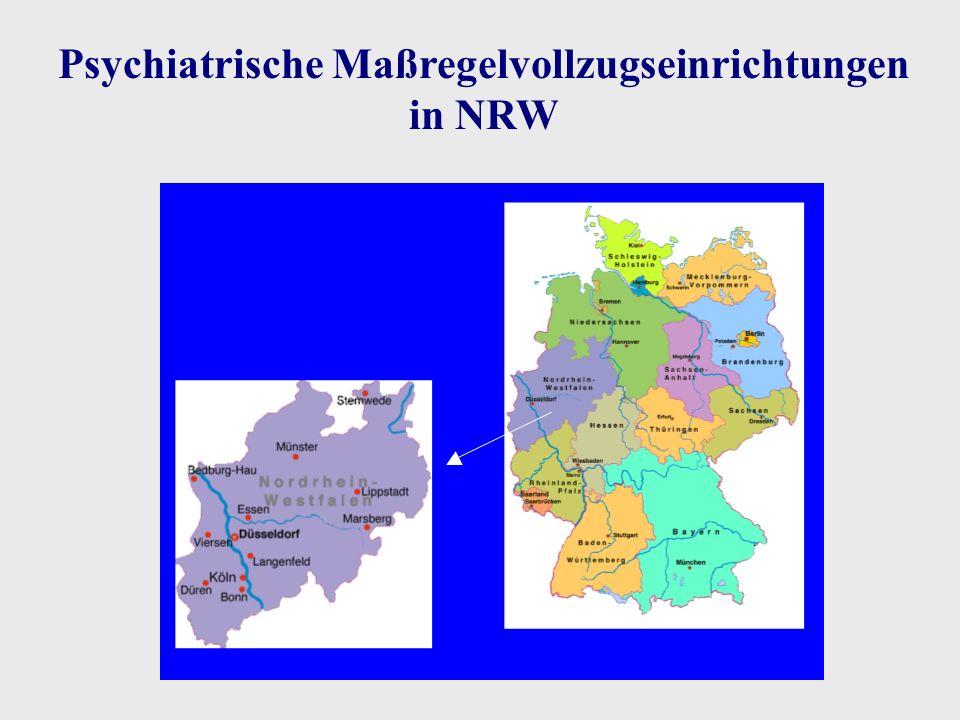 Psychiatrische Maßregelvollzugseinrichtungen in NRW