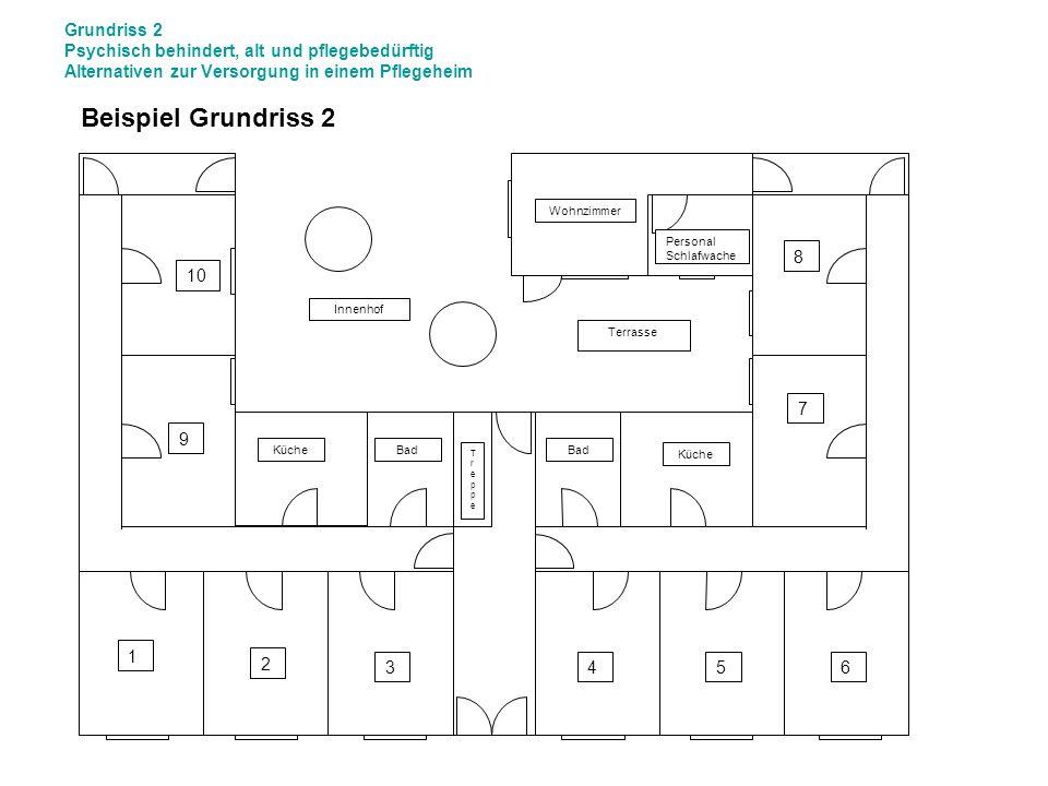 Grundriss 2 Psychisch behindert, alt und pflegebedürftig Alternativen zur Versorgung in einem Pflegeheim