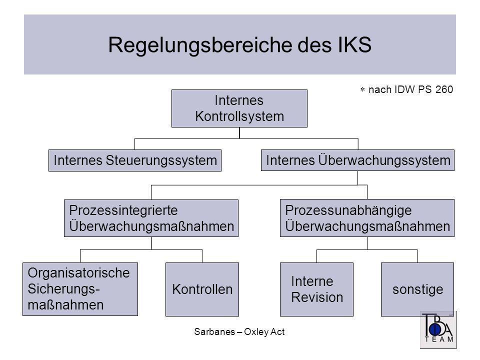 Regelungsbereiche des IKS
