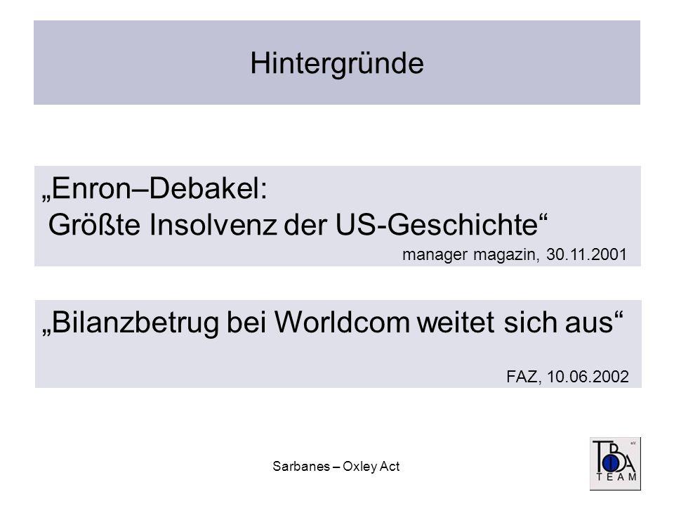 """""""Enron–Debakel: Größte Insolvenz der US-Geschichte"""