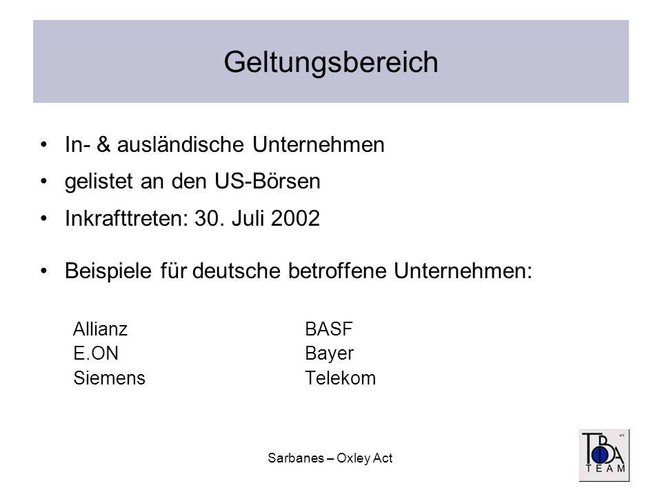 Geltungsbereich In- & ausländische Unternehmen