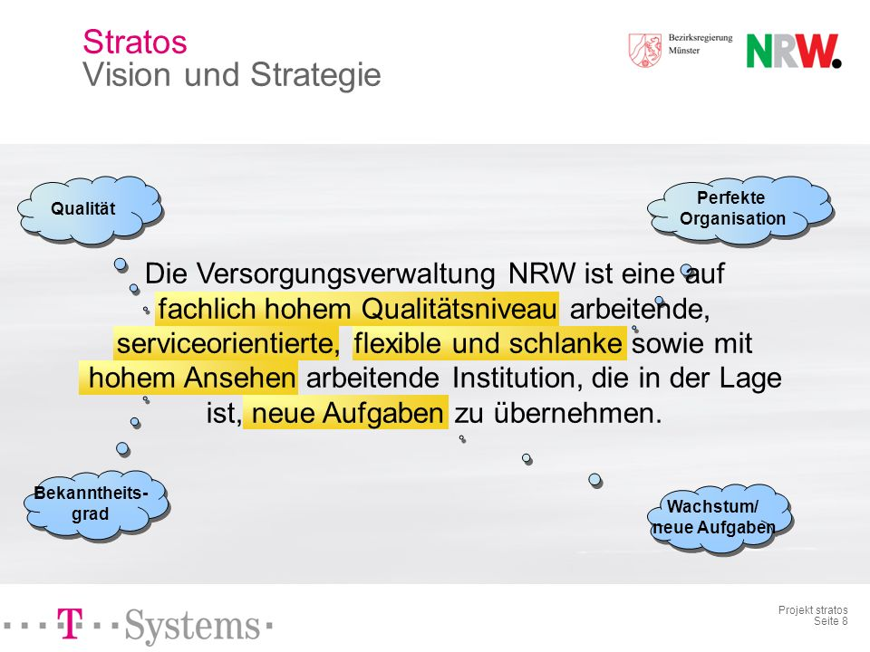 Stratos Vision und Strategie