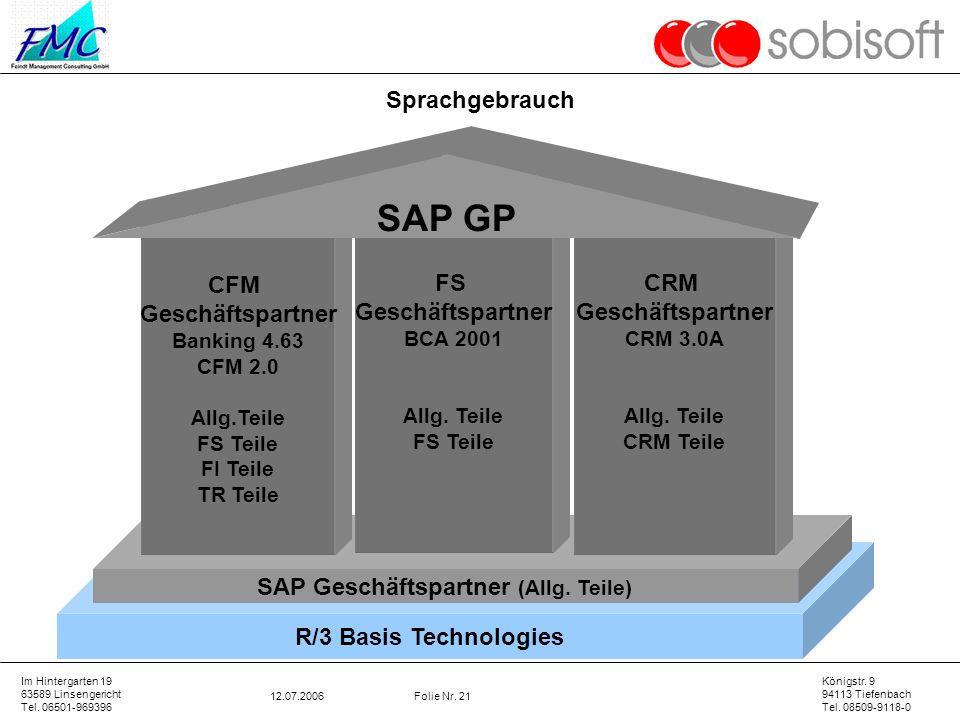 SAP Geschäftspartner (Allg. Teile)
