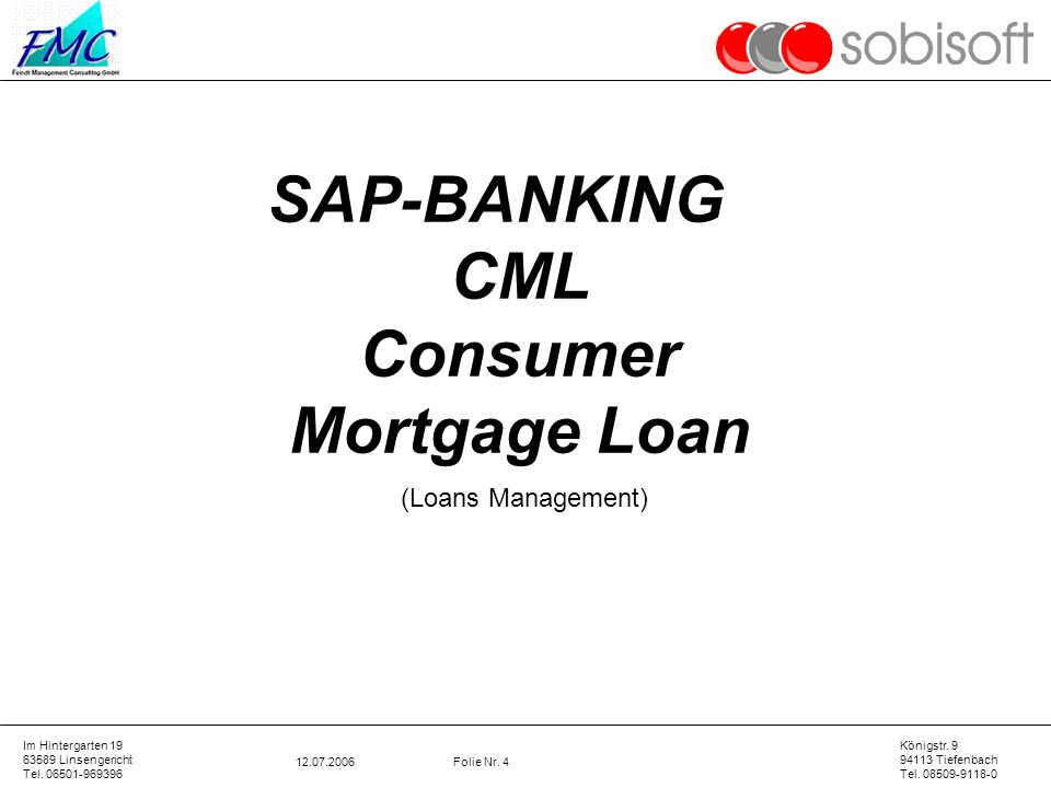 Consumer Mortgage Loan