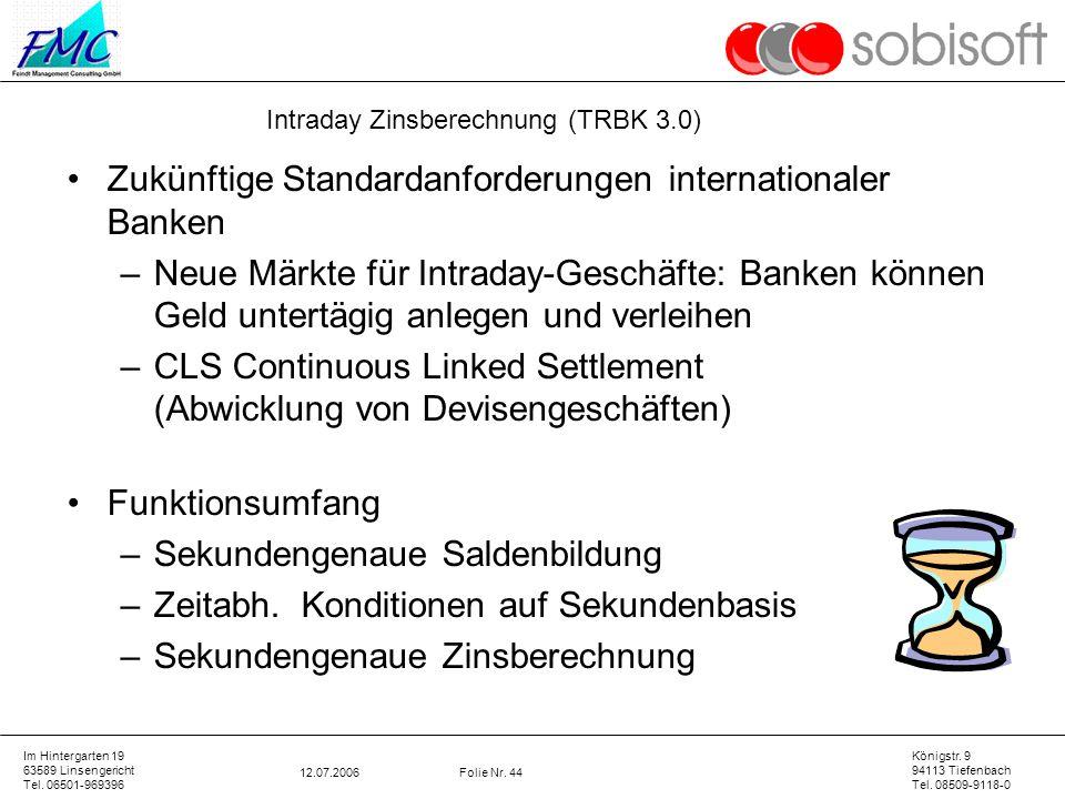 Zukünftige Standardanforderungen internationaler Banken