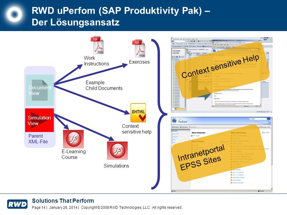 RWD uPerfom (SAP Produktivity Pak) – Der Lösungsansatz