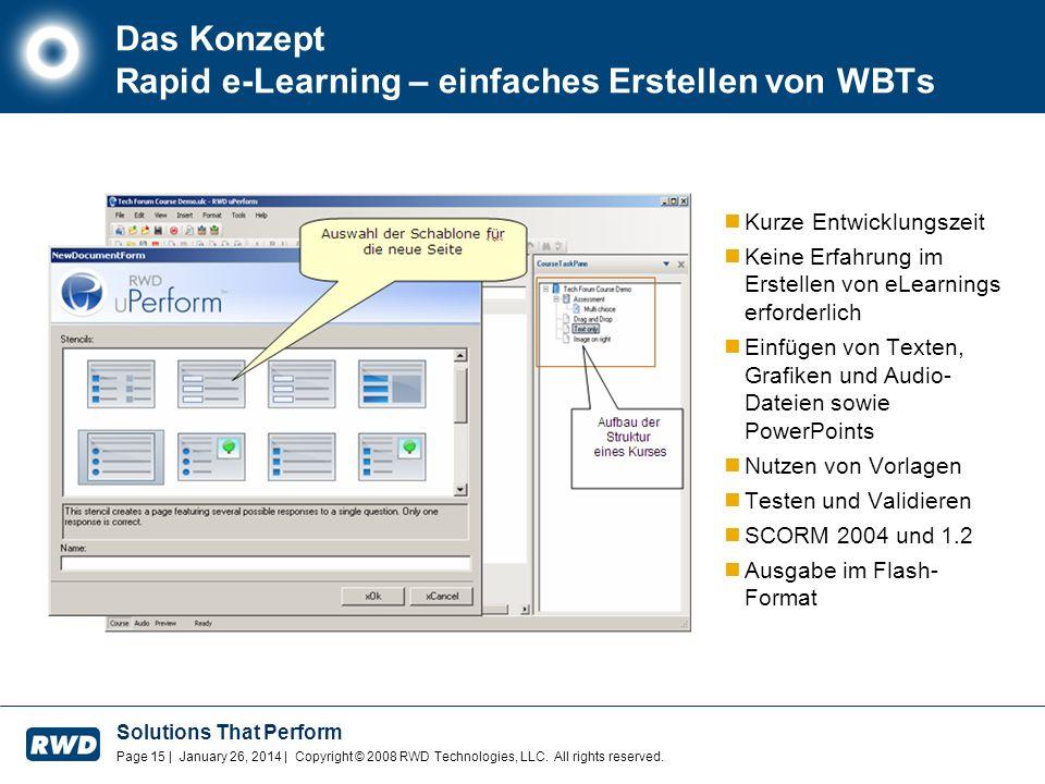 Das Konzept Rapid e-Learning – einfaches Erstellen von WBTs