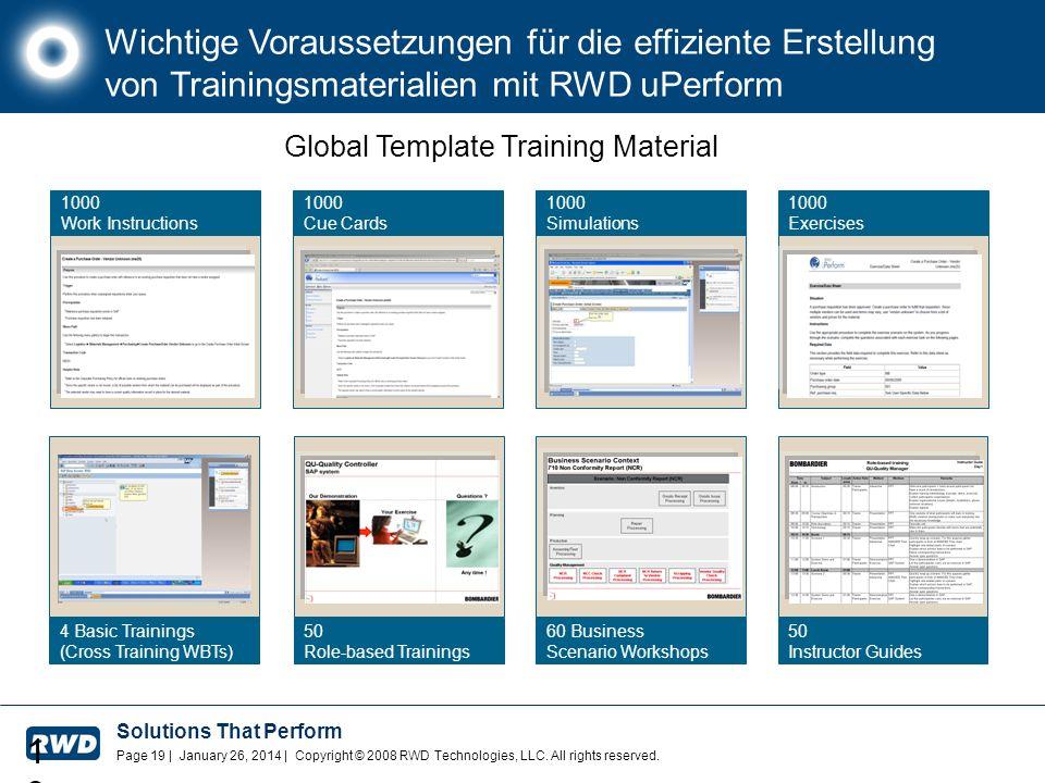 Wichtige Voraussetzungen für die effiziente Erstellung von Trainingsmaterialien mit RWD uPerform