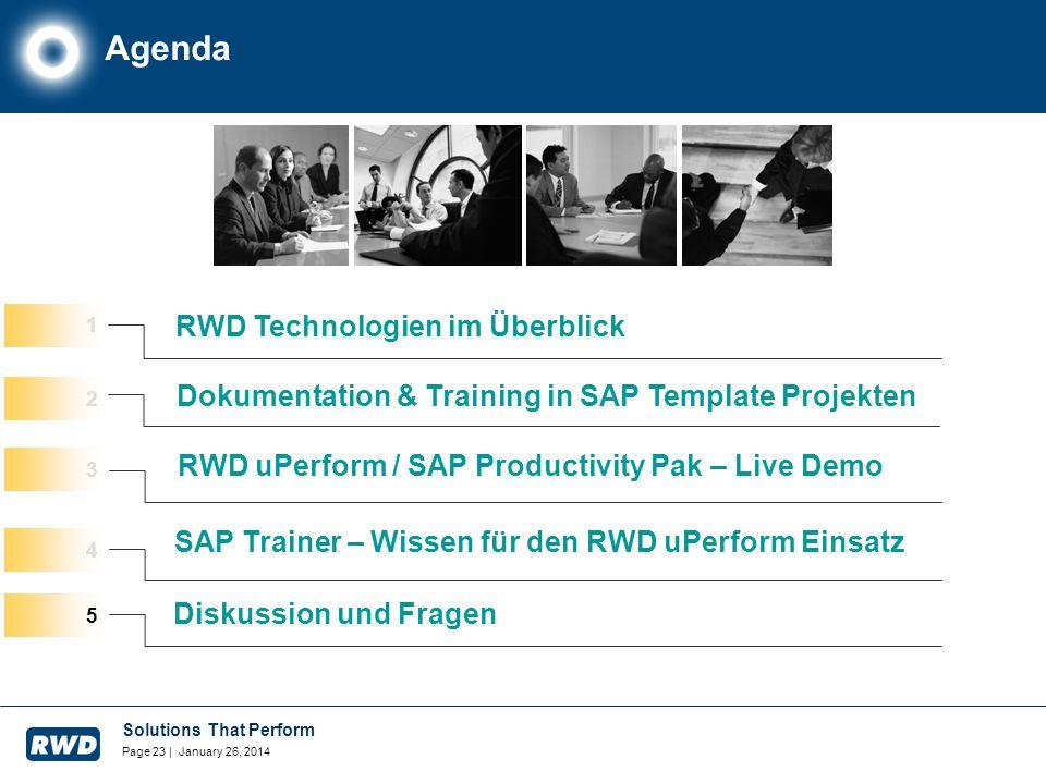 Agenda RWD Technologien im Überblick