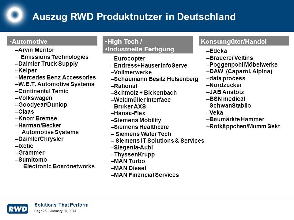 Auszug RWD Produktnutzer in Deutschland