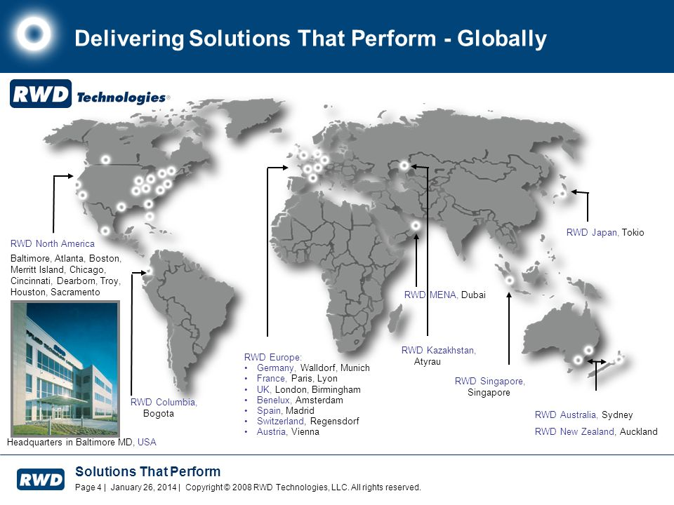 Delivering Solutions That Perform - Globally