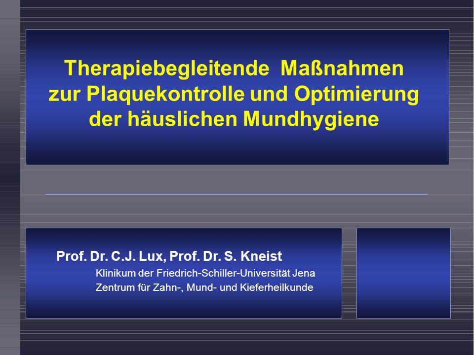Therapiebegleitende Maßnahmen zur Plaquekontrolle und Optimierung der häuslichen Mundhygiene