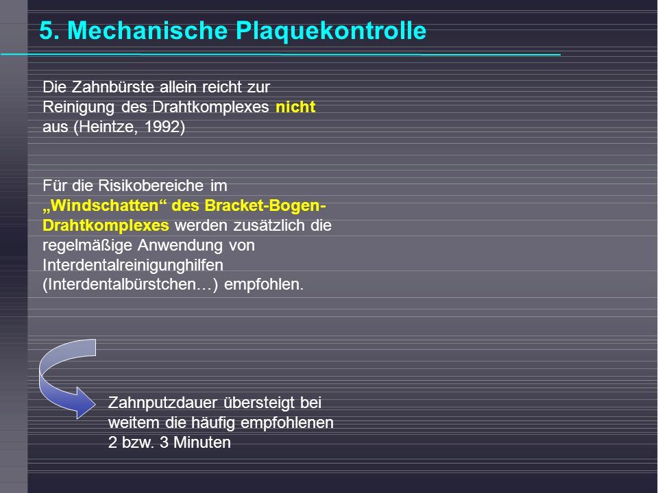 5. Mechanische Plaquekontrolle