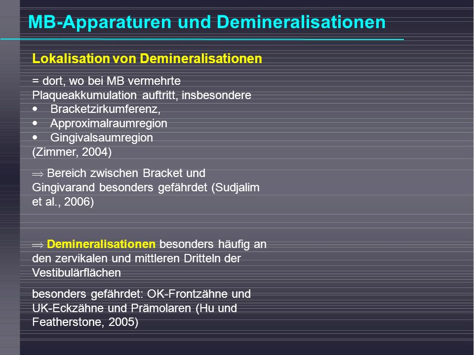 MB-Apparaturen und Demineralisationen