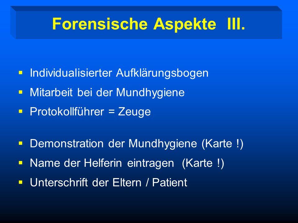Forensische Aspekte III.