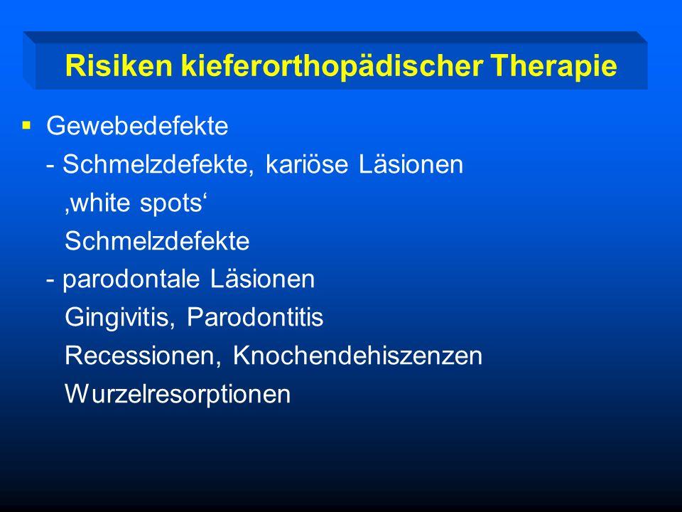 Risiken kieferorthopädischer Therapie