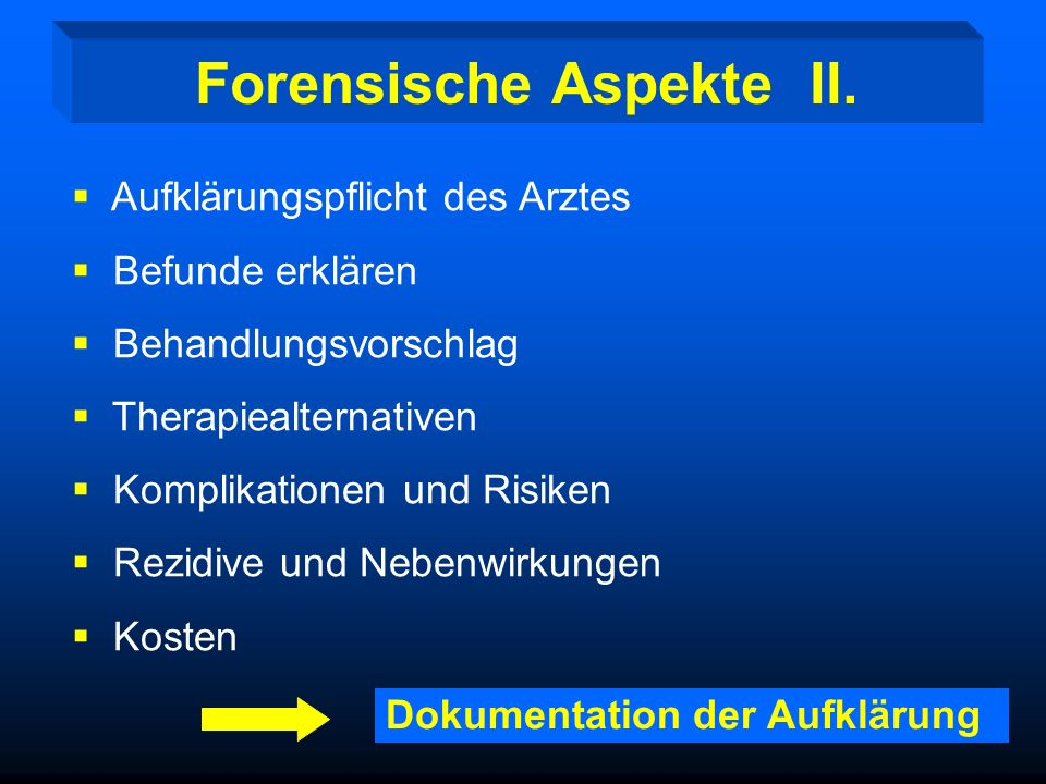 Forensische Aspekte II.