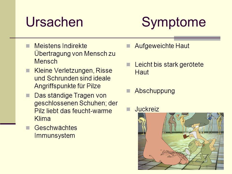 Ursachen Symptome Meistens Indirekte Übertragung von Mensch zu Mensch