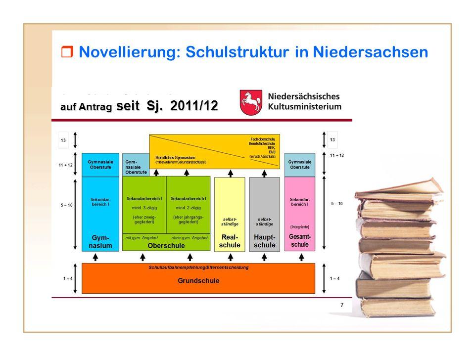  Novellierung: Schulstruktur in Niedersachsen
