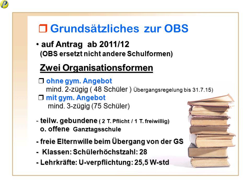 Grundsätzliches zur OBS